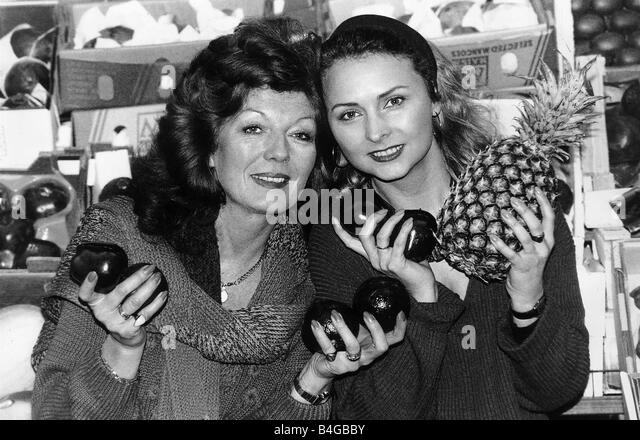Rula Lenska Actress with Joanna Kanska will be opening the New Covent Garden Market - Stock Image