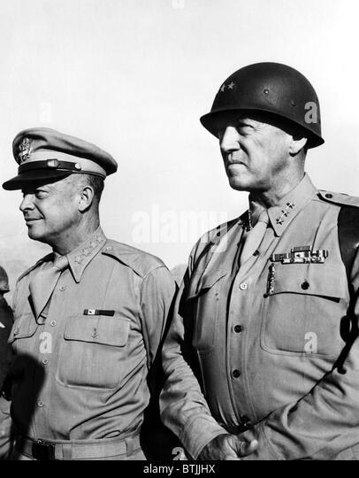 General Dwight Eisenhower, General George Patton, c. 1940's. - Stock Image