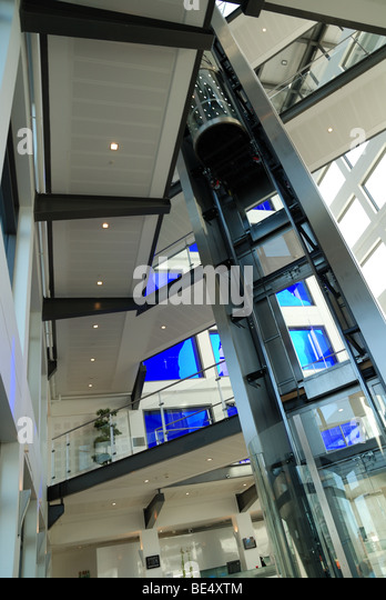 Interior of a modern building - Stock Image