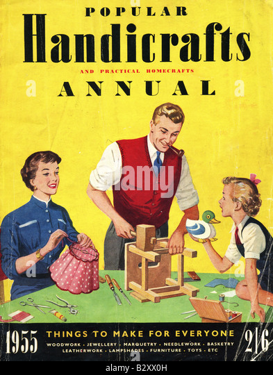 1950s Popular Handicrafts Annual 1955 FOR EDITORIAL USE ONLY - Stock Image