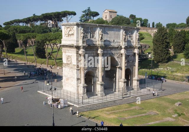 arco di costantino Rome - Stock Image