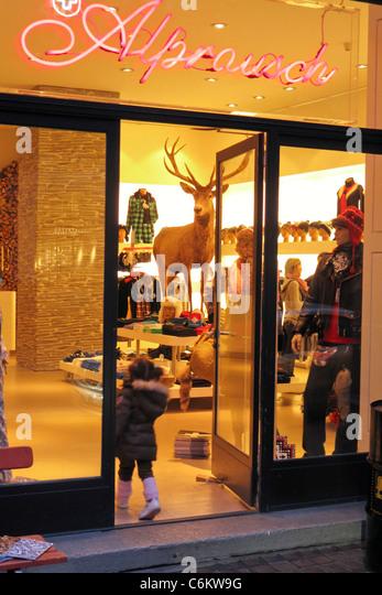 Alpenrausch fashion shop in Zurich, switzerland - Stock Image