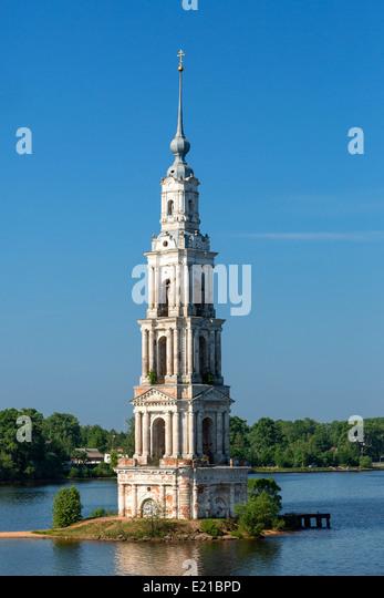Russia, Kalyazin town, St. Nicolas Church - Stock Image