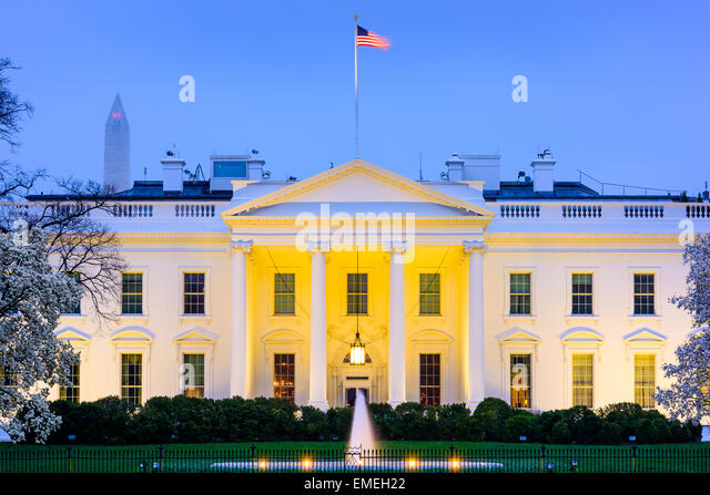 Washington, D.C. at the White House. - Stock Image