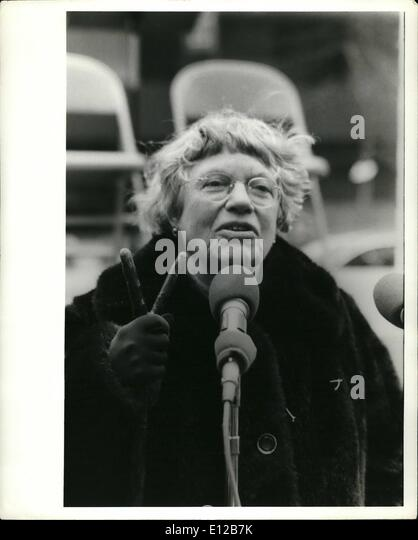 Dec. 09, 2011 - Earth Day 1977: Margaret Mead, famous anthropologist & International Chairwoman of Earth Day - Stock Image