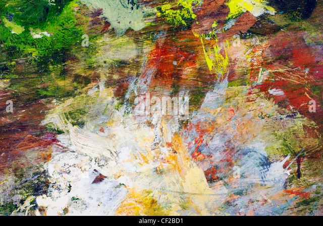 Abstract Oil Painting On Canvas - Stock Image