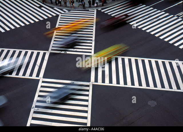 Pedestrian Crossing, Tokyo, Japan - Stock Image