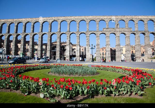 Aqueduct of Segovia, Roman aqueduct, Segovia, Spain - Stock-Bilder