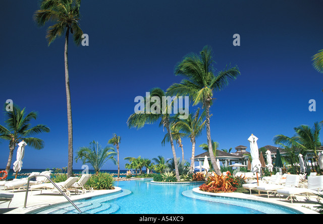 St Kitts and Nevis Nevis Four Seasons Hotel Swimming Pool - Stock Image