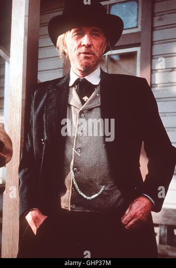früher war Bill Munny ein eiskalter Revolverheld. Dann wurde er seßhaft - doch nun ist er wieder unterwegs. - Stock Image