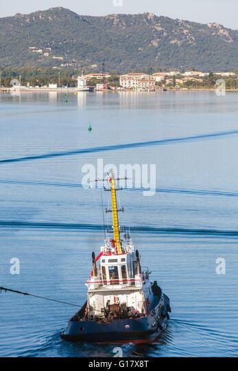 Tug Boat Pulling Ship ...