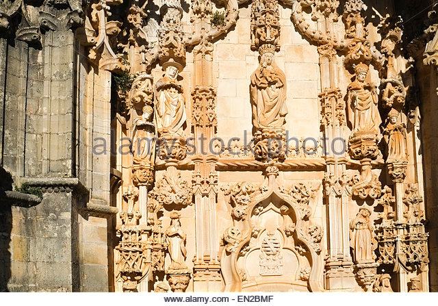 Tomar and portugal convent stock photos