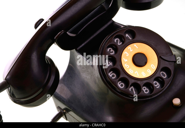 Old rotary phone - Stock Image