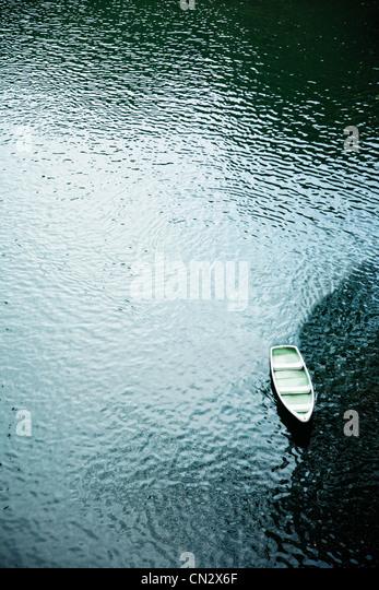 Boat, Takachiho falls, Miyazaki, Kyushu, Japan - Stock Image