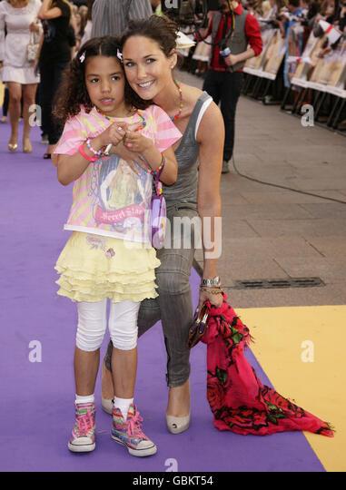 UK Film Premiere of Hannah Montana - London - Stock Image