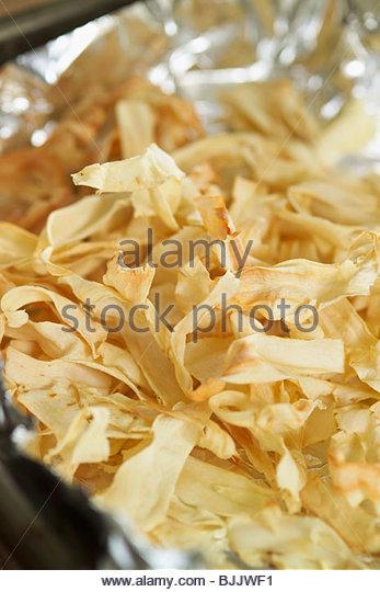 Parsnip crisps - Stock Image