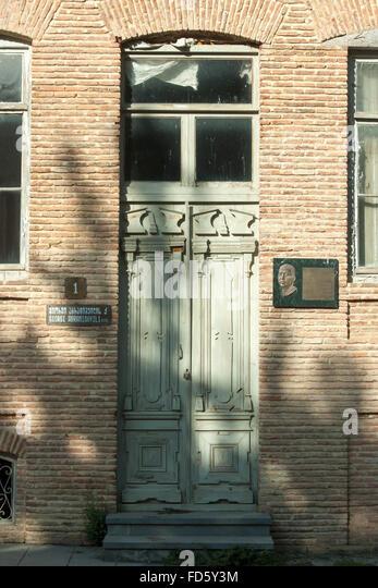 Georgien, Kachetien, Sighnaghi (Signachi, Signagi), typische Architektur im ostgeorgischem Stil in der Giorgi Abramishvili - Stock-Bilder