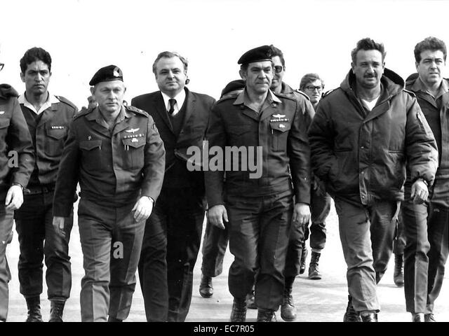 David Elazar (27 August 1925 – 15 April 1976) Chief of Staff of the Israel Defense Forces (IDF), serving in that - Stock Image