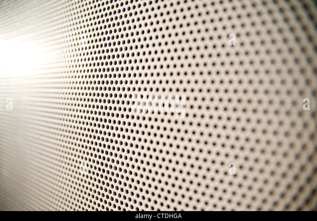 close up of perforated pattern with selective focus - Stock-Bilder