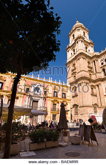 Malaga Cathedral, Andalucia, Spain. - Stock-Bilder