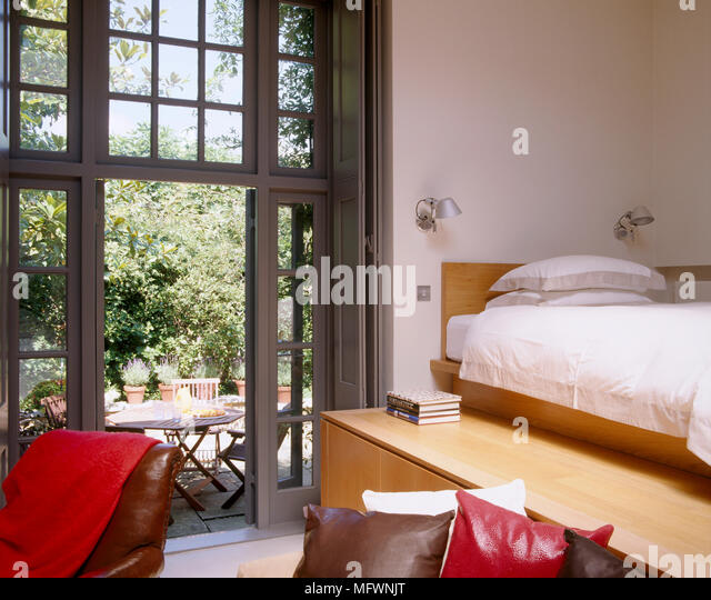Open French Doors Stock Photos Open French Doors Stock