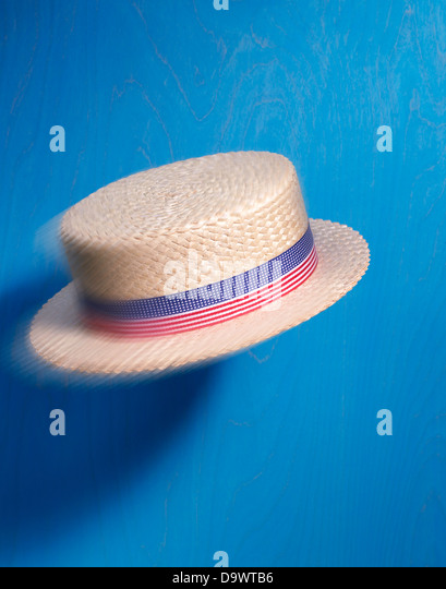 Flying hat - Stock Image