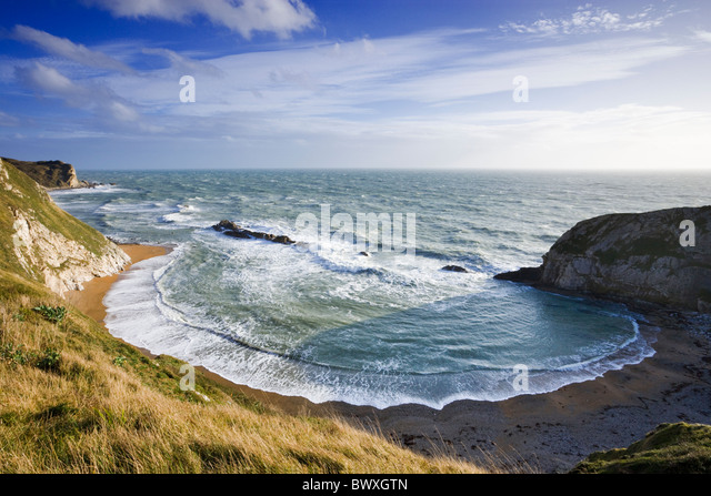 Man o' War Cove (St Oswald's Bay), Dorset, UK - Stock Image