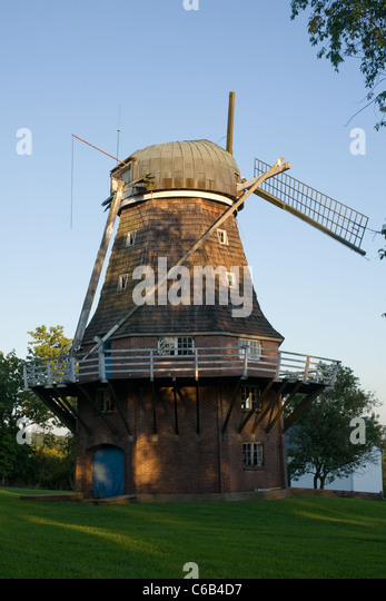 Vollendam Windmill, a smock mill in Holland Township, New Jersey - Stock-Bilder