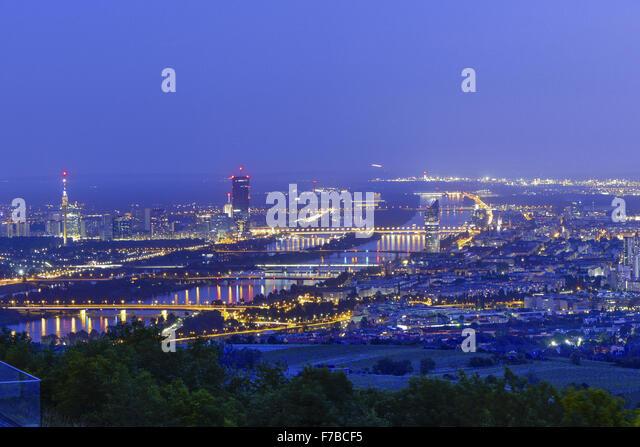 Vienna at night, Austria, Vienna - Stock Image