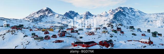 Tasiilaq, Greenland in winter - Stock-Bilder