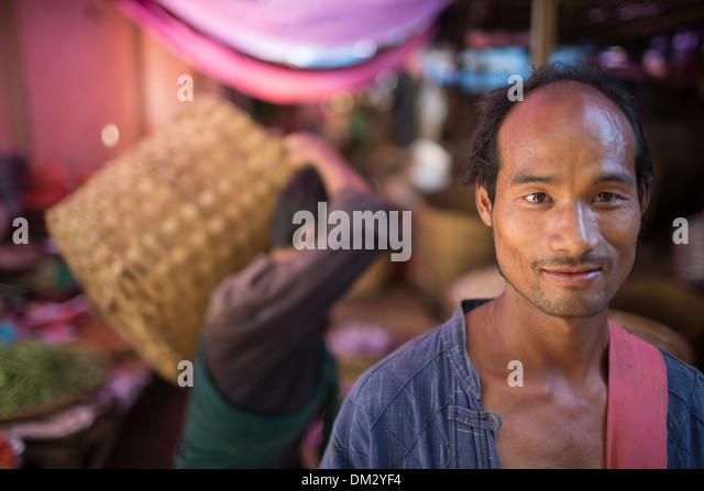 the market at Pyin Oo Lwin, Shan Highland, Myanmar (Burma) - Stock-Bilder