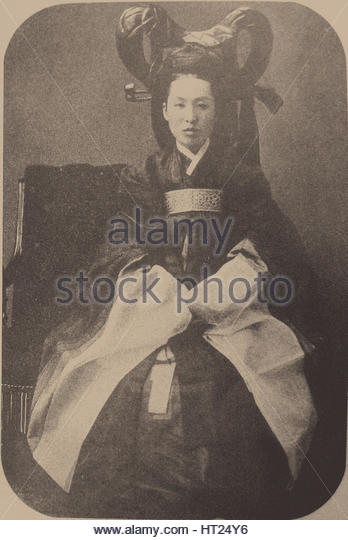 Myeongseong (1851-1895), Empress of Korea, 1895. Artist: Anonymous - Stock Image