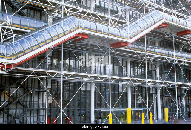 Pompidou Centre, Paris, France - Stock Image