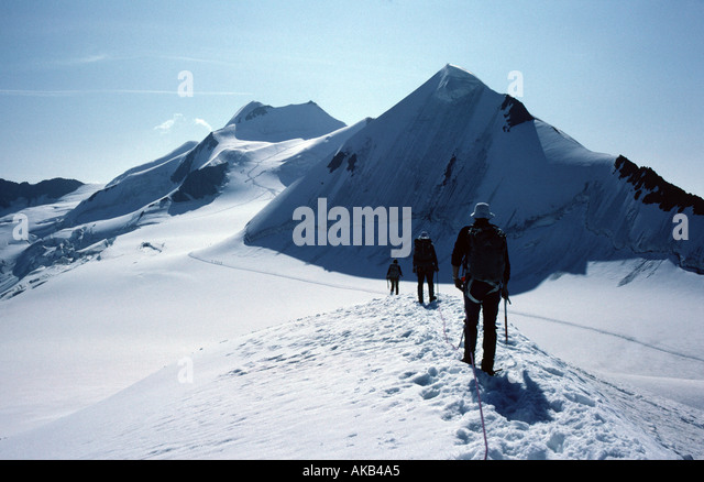 The Hinterer Brochkogel from the Petersenspitze, Ötztal Alps, Austria - Stock Image
