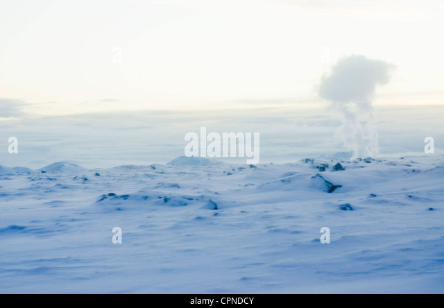 Geothermal steam, Reykjanes Peninsula, Iceland - Stock Image