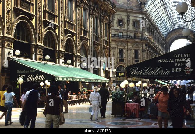 The Galleria Vittorio Emanuele II Milan Italy - Stock Image