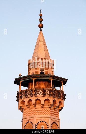 Minaret, Tunis, Tunisia, North Africa, Africa - Stock Image