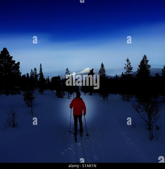 Cross country skiing - Stock-Bilder