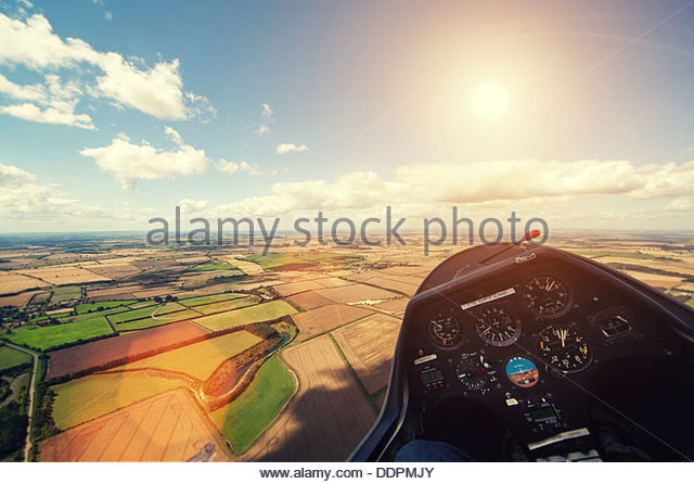 flying glider - Stock Image