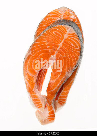 salmon steaks - Stock Image