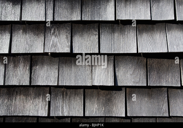 Wooden shingles - Stock-Bilder