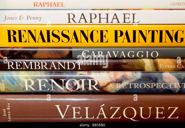 Book Spines Painters and Paintings - Stock-Bilder