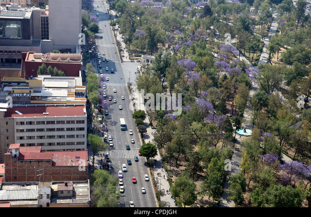 Overview of Almeda Park, Historic Center, Mexico City, Mexico, North America - Stock Image