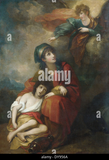 Benjamin West Hagar and Ishmael - Stock Image
