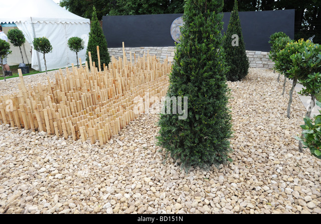 Minimalist garden Design at RHS Tatton Park flower show Knutsford Cheshire - Stock Image