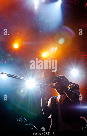 Montreal Jazz Festival, musicians on stage - Stock Image