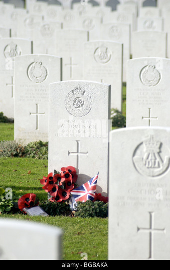 Photograph war graves first world war remembrance stones dead - Stock-Bilder
