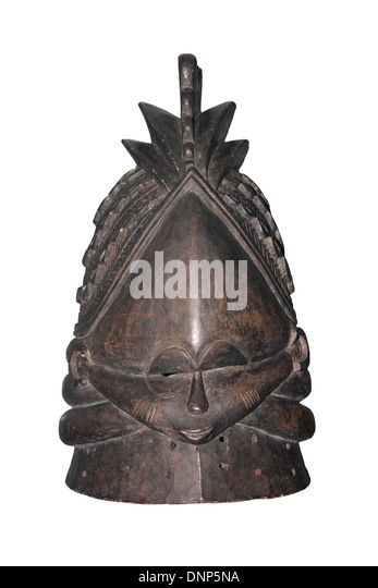 Sowei Mask, Sierra Leone - Stock Image