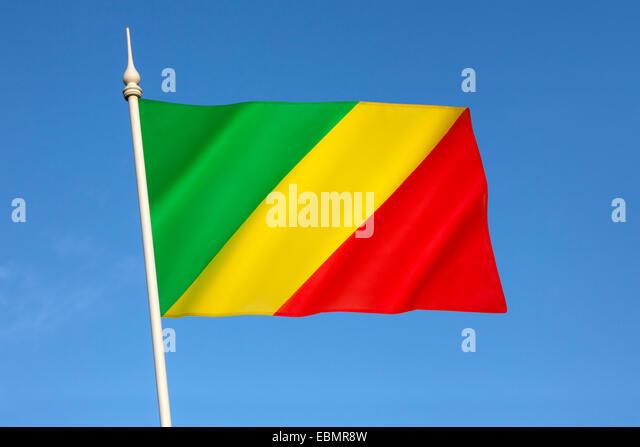 Flag of the Republic of the Congo - Stock-Bilder