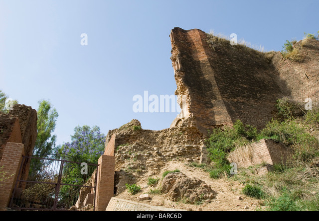 Old ruins of a building, Indus Valley Civilization, Jammu and Kashmir, India - Stock Image